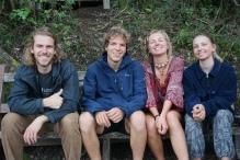 Moritz, Nick, Pia et Céline (potos allemands)
