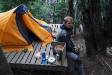 Rick fatigué - Torres del Paine, Chili