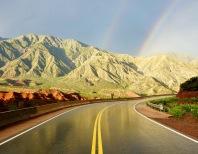 Route 40 après l'orage - Argentine