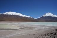 Laguna verde y blanca - Altiplano, Bolivie